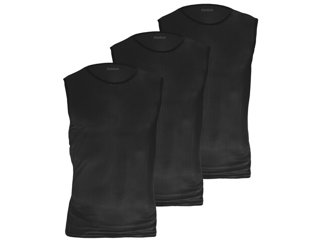 GripGrab Ultralight Mesh SL Mesh Baselayer Unisex 3-Pack black
